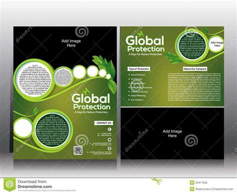 eco flyer amp global wamring brochure template design stock
