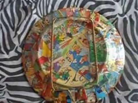 tutorial decoupage su ceramica arte del riciclo decoupage su piatto in ceramica youtube