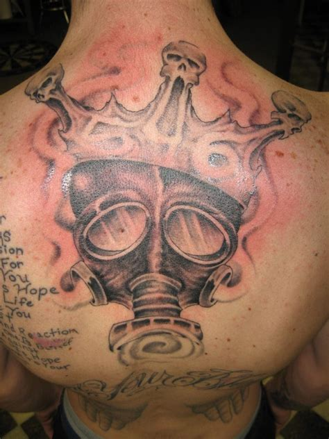 lucky s tattoo and piercing gas mask with crown by fortier yelp