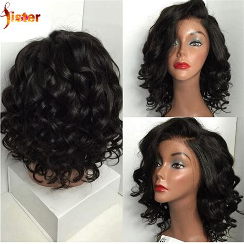 aliexpress lace wig glueless lace front human hair short wigs brazilian human