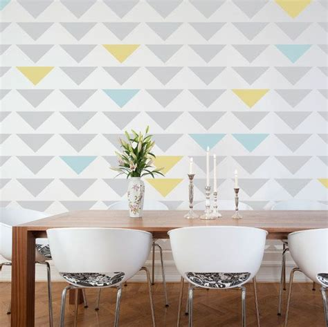 interior wall painting ideas nterior painting ideas triangle stencil
