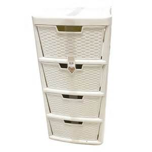 simply rattan 4 drawers tower cabinet bookstand