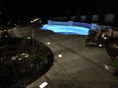 pool deck lighting pool decks legacy custom pavers