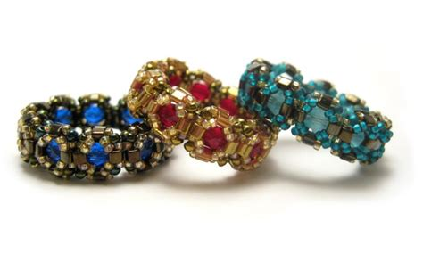 Beaded Rings Free Patterns Tutorials | captured beaded ring pattern jewels bead stitching