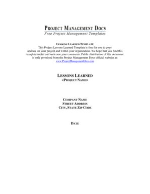 lessons learned template pmbok free excel project management tracking templates forms
