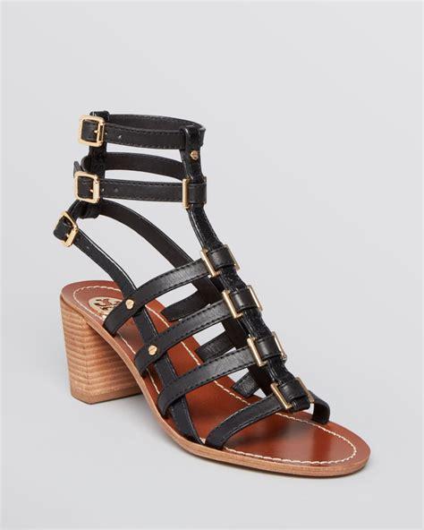 Sandal Preloved Gladiator 1 burch gladiator sandals reggie block heel in black lyst