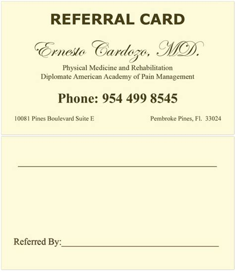 referral card template referral postcards pictures to pin on pinsdaddy