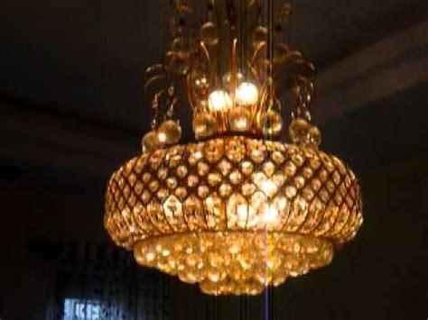 moving lights chandelier jhumar pmov youtube