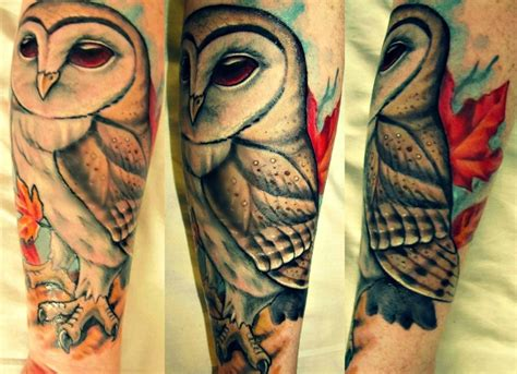 tattoo barn owl barn owl tattoo tattoos that pierce the heart