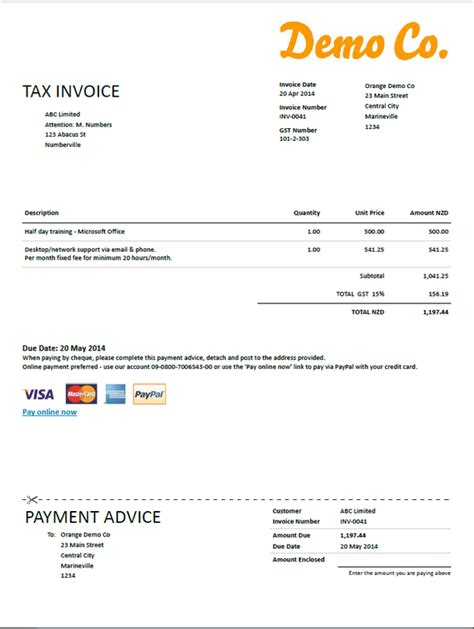 invoice layout nz sole trader invoice template nz invoice exle
