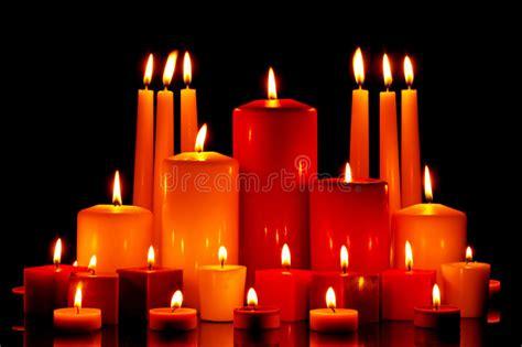 grossisti candele large of mixed candles burning stock photo image