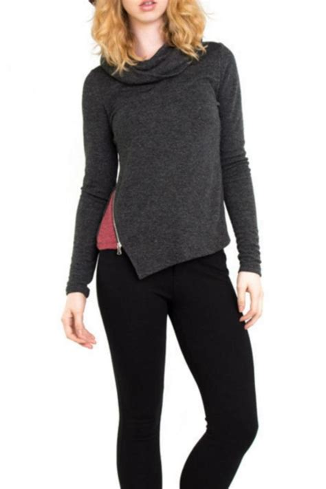 zip side sweater patrizia luca side zip sweater from new jersey by
