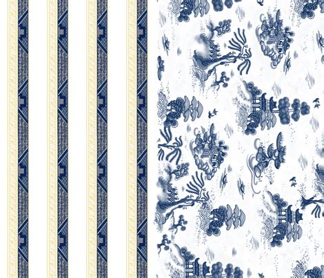 willow pattern wallpaper blue willow toile with border fabric juliamonroe