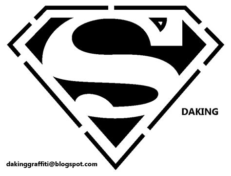daking graffiti crew superman logo stencil