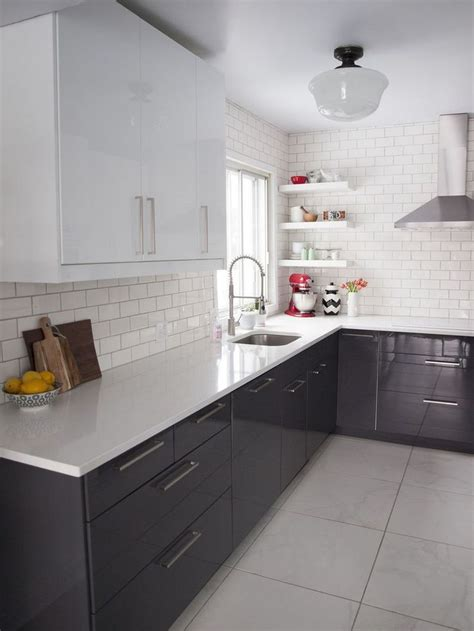 white glass subway tile kitchen contemporary with bread 78 ideas about grey gloss kitchen on pinterest high