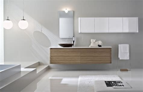 Contemporary Bathroom Furniture Cabinets Walnut Bathroom Furniture With Rounded Corners Seventy By Idea Digsdigs