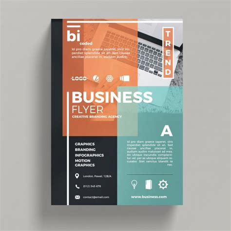 abstract corporate business flyer template psd file free