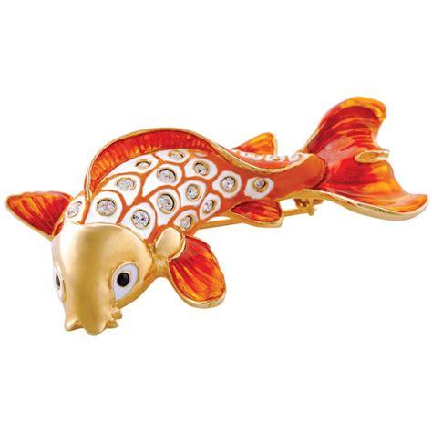 Set Silver Ikan jb171 gold plated koi fish brooch jewelari of ari