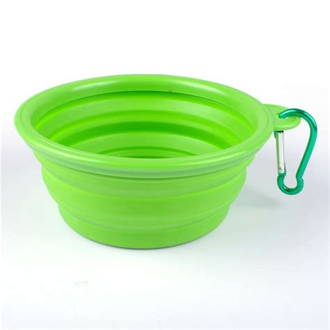 Pet Feeding Vessel Bowl bowl cat pet travel bowl silicone collapsible feeding water dish feeder portable water