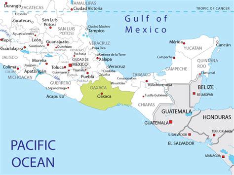 oaxaca mexico map map of oaxaca in mexico
