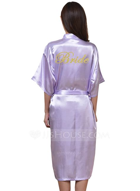 braut robe braut brautjungfern personalisierte roben mit wadenlang