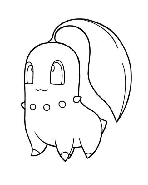 pokemon coloring pages chikorita pokemon chikorita coloring pages images pokemon images