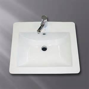 drop in bathroom sinks rectangular acri tec industries 3686 drop in ceramic rectangular sink