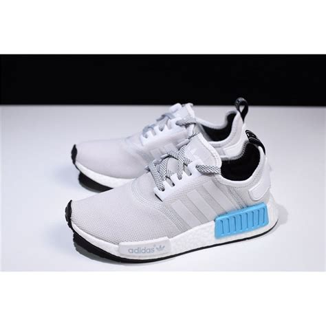 adidas nmd  runner light greywhite blue mens  womens shoes  yeezy boost