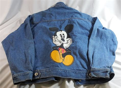 vintage retro disney mickey co mickey mouse denim jean