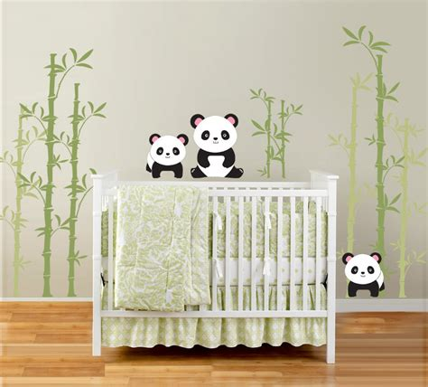 Wallsticker Green Bamboo Panda westwing