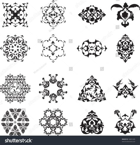 traditional design elements vector traditional ottoman turkish islamic design elements stock