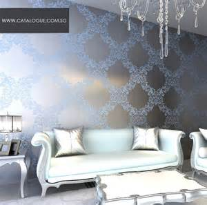 Purple Crystal Chandelier Mirror Wallpaper Designs