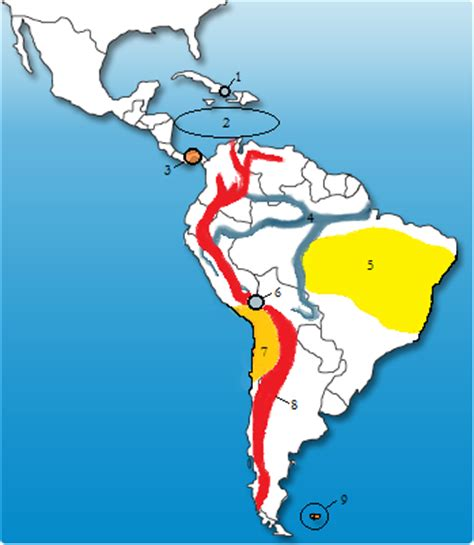 america map sporcle topographical features of and south america quiz