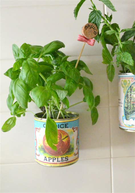 vasi per piante aromatiche come fare dei vasi per piante fai da te con barattoli