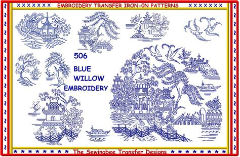 printable iron on transfers officeworks 506 blue willow embroidery transfer pattern iron on