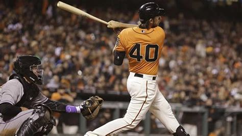 bumgarner hits grand slam san francisco giants edge