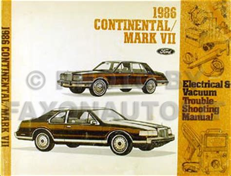 car service manuals pdf 1986 lincoln continental mark vii interior lighting 1986 lincoln continental mark vii electrical troubleshooting manual