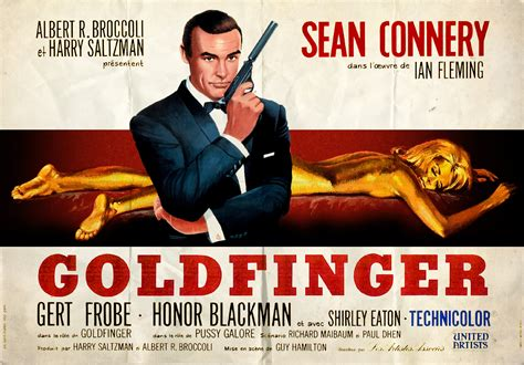 film james bond film goldfinger tribute poster