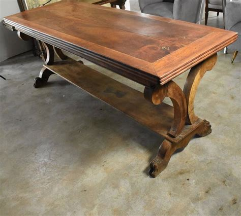 lion leg renaissance home decor stand or console base 29h for sale early 19th century french walnut library console table