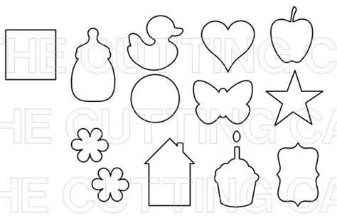 printable shapes for babies image gallery shape cutouts