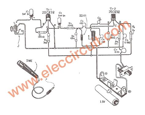 three transistor fm transmitter 1 5v fm transmitter circuit 88 108mhz eleccircuit