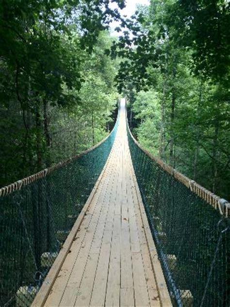 swinging bridge pigeon forge swinging bridge picture of foxfire mountain adventures