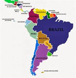 labeled map of central and south america mini dvd in central south america