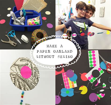 How To Make Paper Garland - how to make a paper garland without sewing tinkerlab