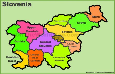 slovenia on world map slovenia map and satellite image slovenia map geography