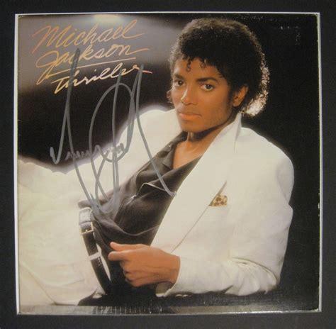 michael jackson thriller album biography lot detail michael jackson signed quot thriller quot album one