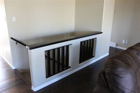 Replace Banister With Half Wall by Interesting Half Wall Replace Trap Railing For The Home We Railings