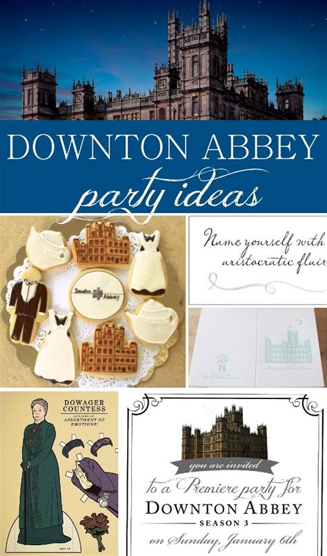 downton abbey party invitation printable  sisters suitcase packed  creativity