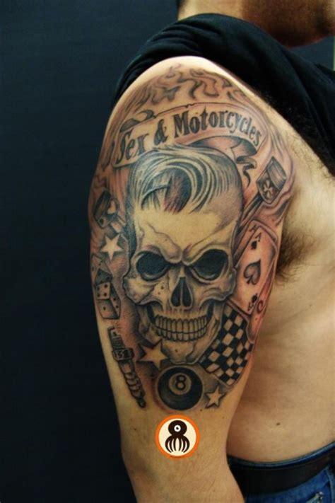 imagenes de tatuajes de una calabera tatuaje de una calavera bien peinada
