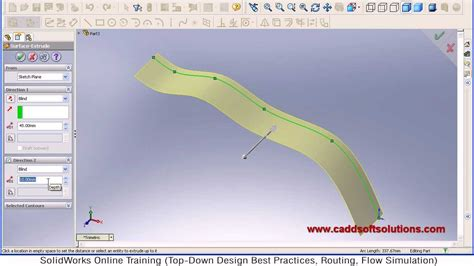 solidworks tutorial extrude solidworks extrude curved surface tutorial youtube